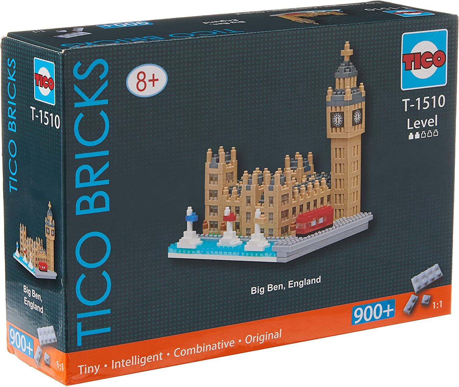 The Louvre TICO Mini Bricks Landmark Series Building Block Set T1521