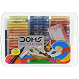 Doms Oil Pastels 50 Shades, Non-Toxic EN 71-3 Standard Certified