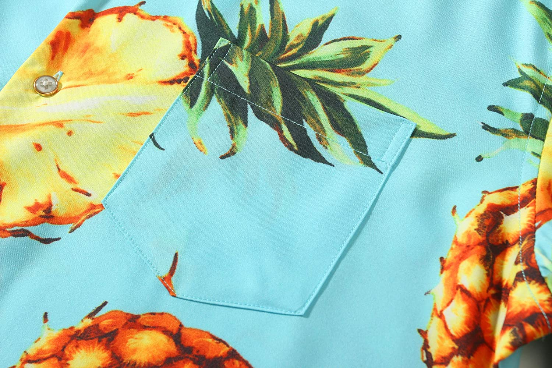 Leisurely Pace Mens Fruit Tropical Hawaiian Shirt Short Sleeve Beach Aloha Party Shirt