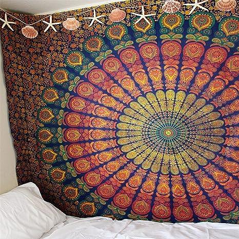 BABIFIS Mandala Indio Tapiz Colgante de Pared 230 * 180 Cm ...