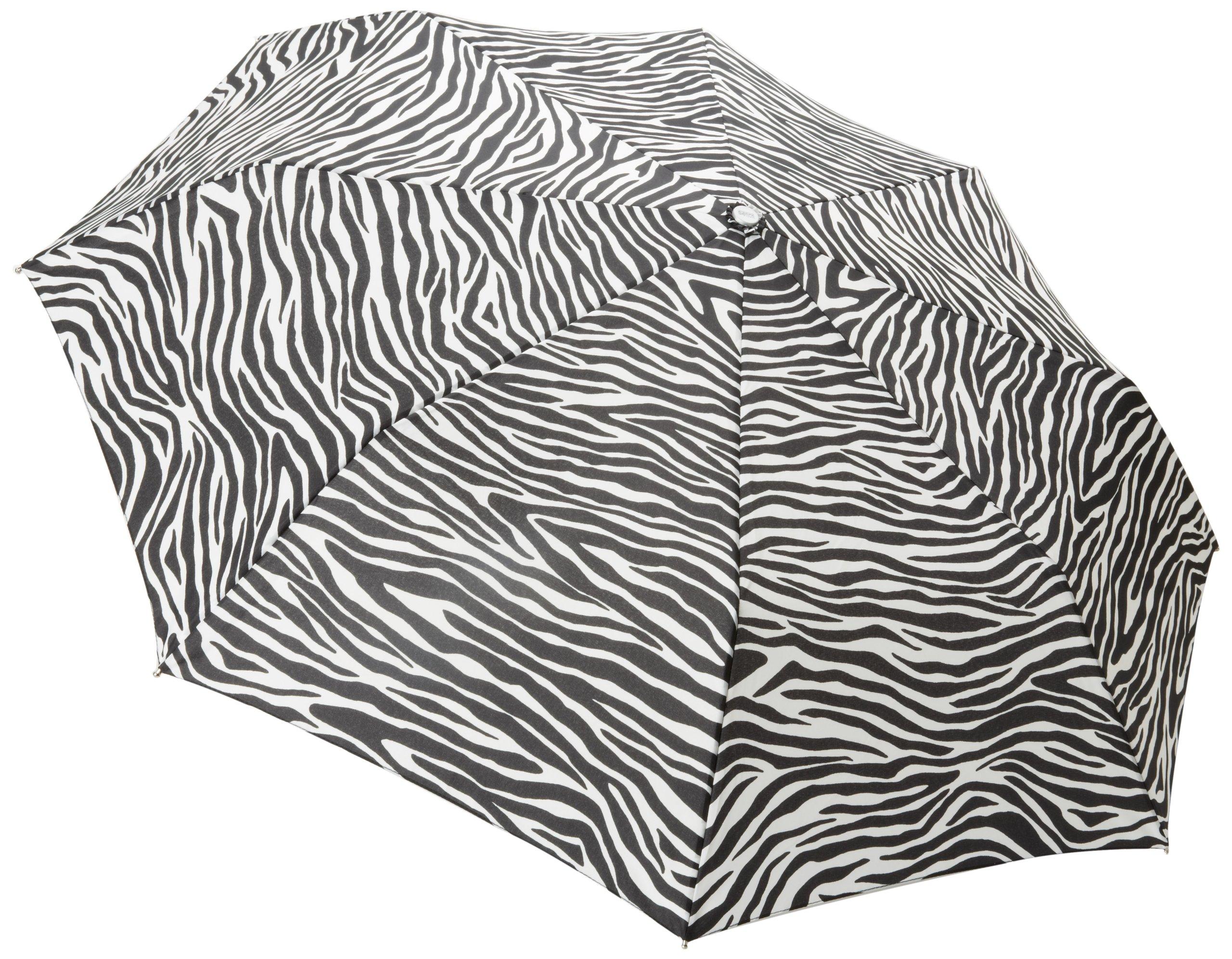 Totes Signature Basic Automatic Compact Umbrella, Zebra, One Size