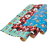 American Greetings Wrapping Paper, Mickey Mouse (3-Rolls, 105 sq. ft.) Rnbwstripe 22Oz Stadcup 8Ct Hc, Medium…