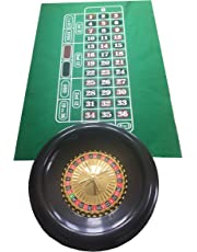 Grande roulette de 40cm, avec billes, tapis vert en feutrine et jeton de gagnant