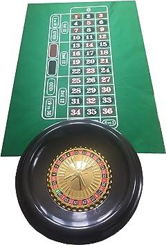 Ruleta grande de 40 cm, bolas, tapete verde de fieltro e indicador de ganador: Amazon.es: Juguetes y juegos