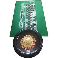 Ruleta grande de 40 cm, bolas, tapete verde