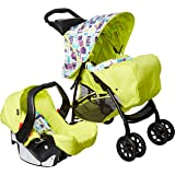 Graco 1913562 Mirage Plus Toy Town Baby Travel System, Green