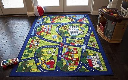 Amazon Com 8 X10 Kids Boys Children Toddler Playroom Rug Carpet