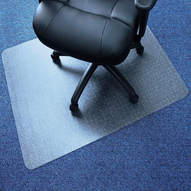 "Marvelux 30"" x 48"" Vinyl (PVC) Rectangular Chair Mat for Very Low Pile Carpets | Transparent | Multiple Sizes"