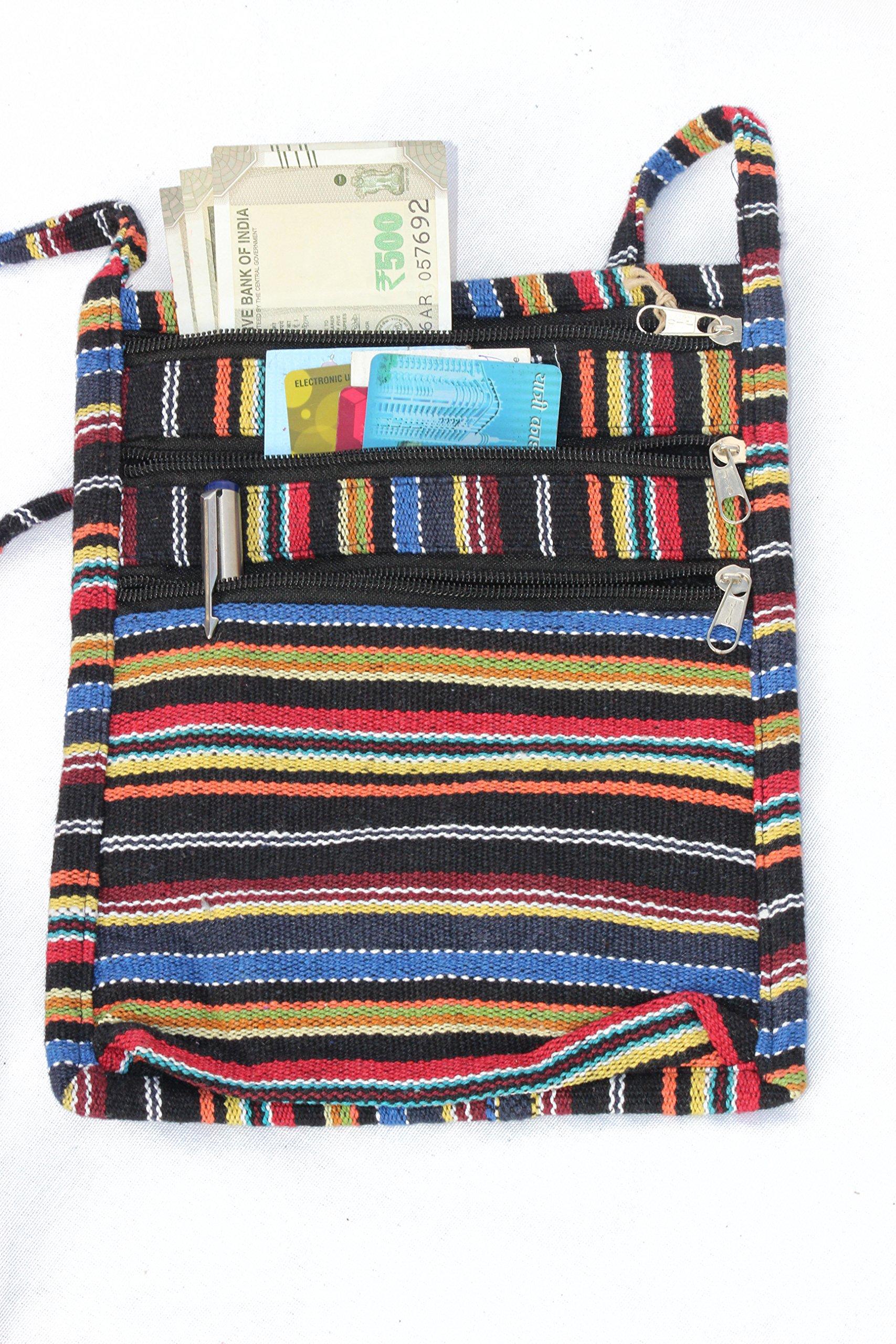 TRIBESMANGOLD-- Travel Wallet Messenger Bag Hidden Money Pouch & Neck Passport Holder