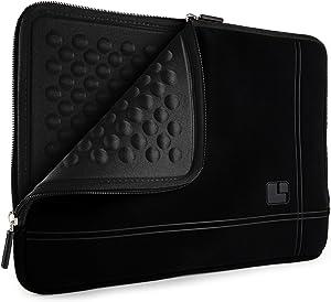 SumacLife Shock Absorbent Jet Black Laptop Sleeve Suitable for 14 inch Lenovo IdeaPad, Flex, N Series, ThinkPad, Yoga