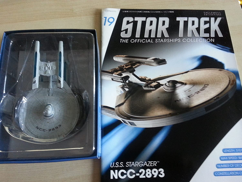 #19 Star Trek USS STARGAZER Die-Cast Metal Ship-UK/Eaglemoss w Mag by Eaglemoss