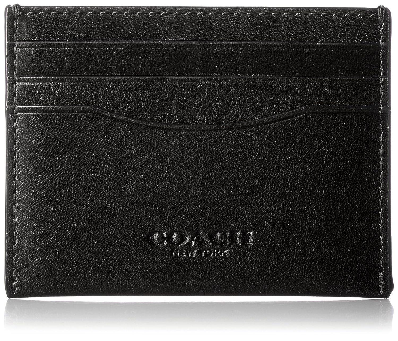 a64aa499 COACH Men's Sport Calf Money Clip Card Case
