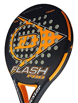 Dunlop FLASH PRO - Pala de pádel 38mm, 2018, nivel iniciación, color naranja: Amazon.es: Deportes y aire libre