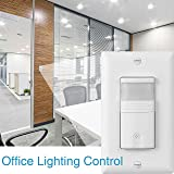 LIT-PaTH PIR Motion Sensor Light Switch Wall Switch for Indoor Use - Vacancy & Occupancy Modes, NEUTRAL Wire Required, 3 Way, UL and Title 24 Rated, 2-Pack