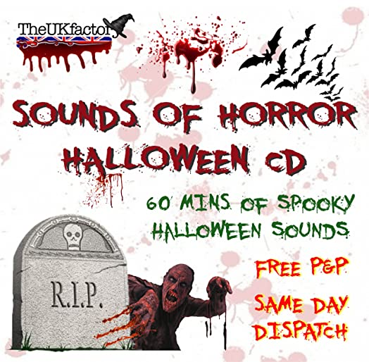Halloween Sounds Of Horror CD * Spooky Scary Sounds Perfect For ...