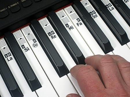 KEYNOTES Do-Re-Mi Solfège Piano y Música-Teclado Adhesivo Etiquetas de la Nota