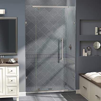 Dreamline Vitreo 46 18 In Frameless Pivot Shower Door Brushed