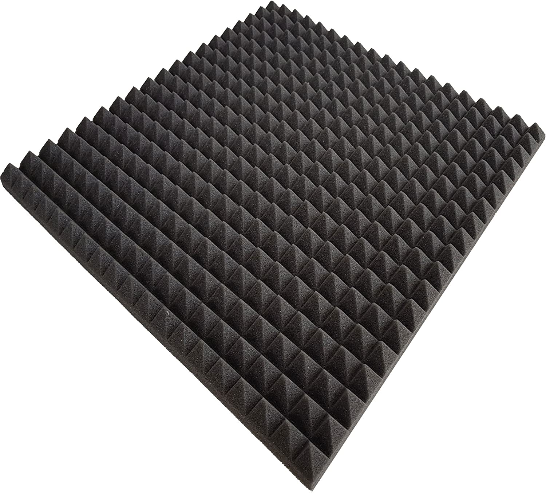 100x100x3cm Pyra 3110 Verpackungseinheit = 10 Platten = ca. 10 m/² ca FSE Anthrazit Schwarz flammhemmend nach MVSS302