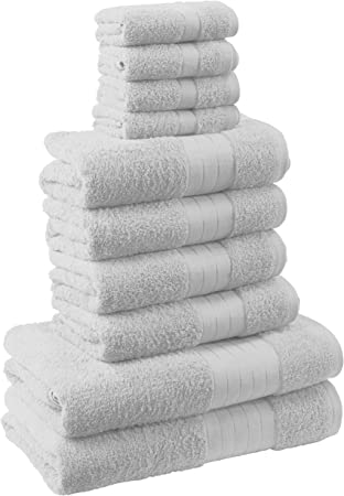 Luxury Towel Bale Set 100/% Egyptian Cotton 10 PC Face Hand Bath Bathroom Towels