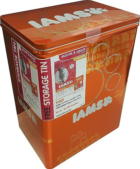 IAMS - Alimento equilibrado para Gatos con Lata de Pollo, 2,55 kg