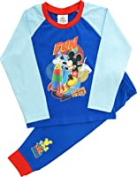 Boys Disney Mickey Mouse Snuggle Fit Pyjamas Sizes 12 Months to 5 Years