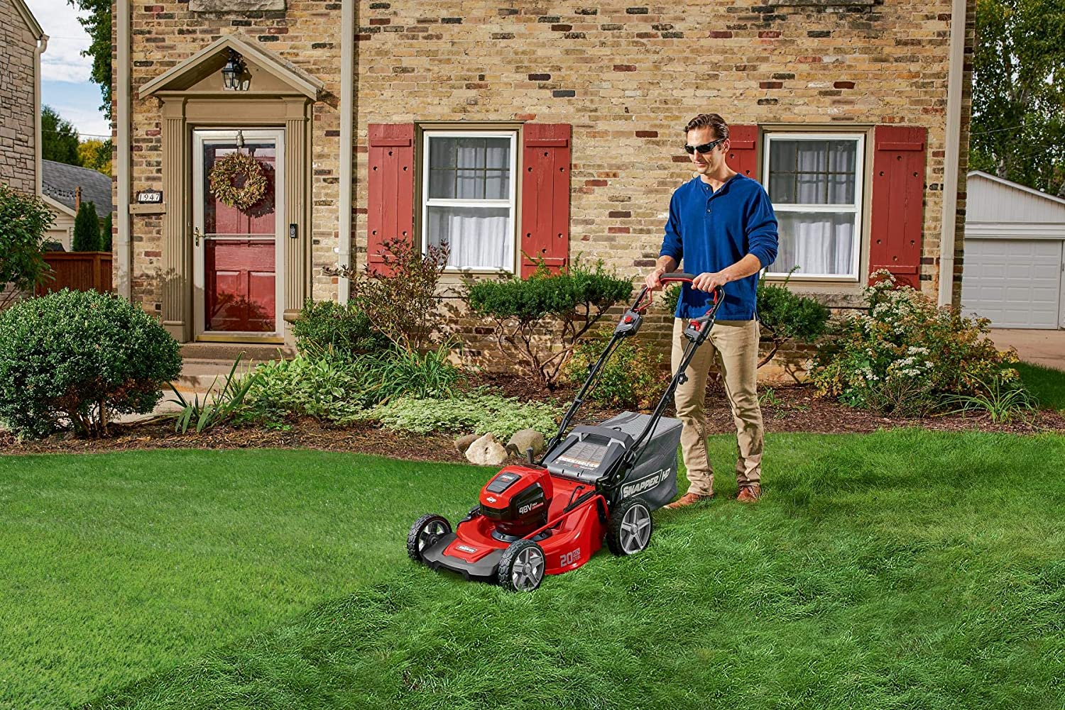Snapper HD 48V MAX Cordless Electric Self-Propelled 20-Inch Lawn Mower