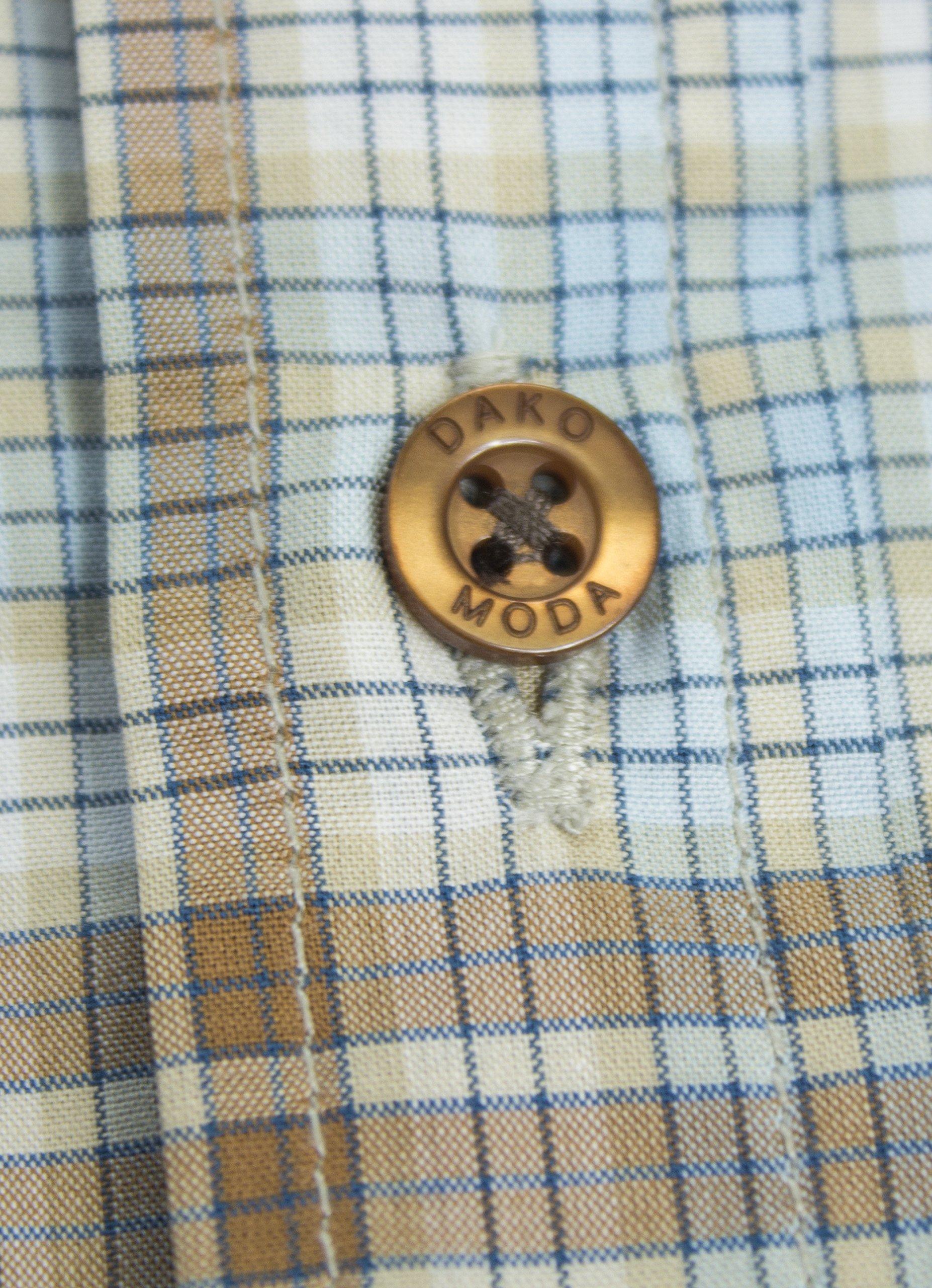 Dakomoda Toddler Boys' Short Sleeve Easter Shirt Brown Plaid Check 100% Pima Cotton Dress Shirt 3T by Dakomoda (Image #1)