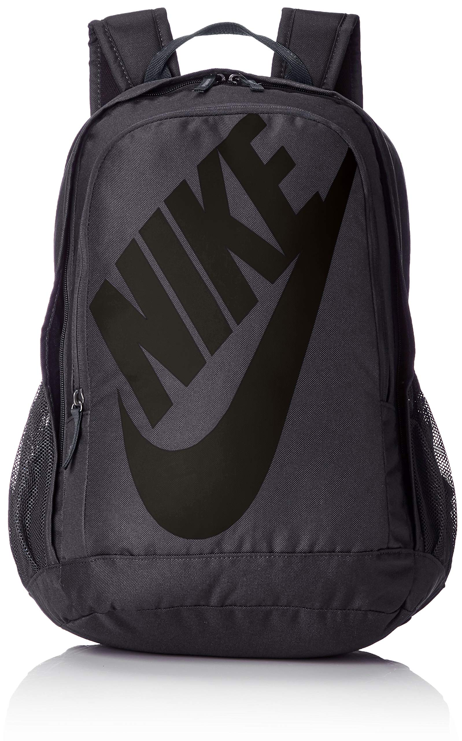 Nike Sportswear Hayward Futura Backpack for Men, Large Backpack with Durable Polyester Shell and Padded Shoulder Straps, Dark Grey/Dark Grey/Black