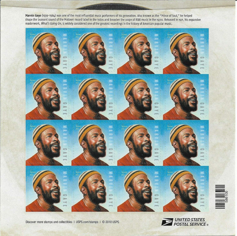 USPS NEW Marvin Gaye Music Legend Commemorative Stamp Sheet of 16 Forever Stamps