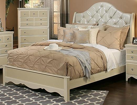 amazoncom sandberg furniture 354i marilyn bedroom set eastern king kitchen u0026 dining