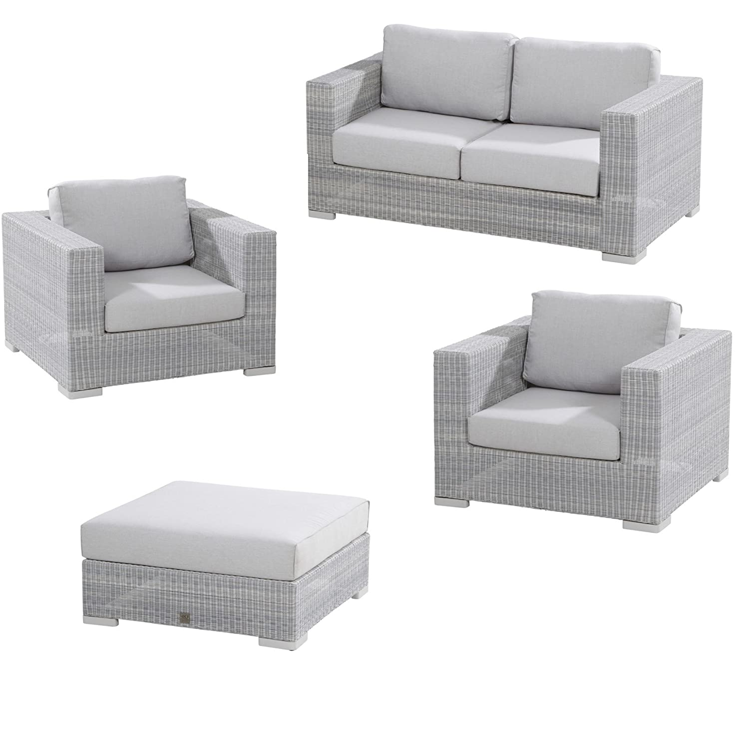 Lounge sofa outdoor günstig  4Seasons Outdoor Lucca 4-teilige Loungegruppe mit Loungesofa ...