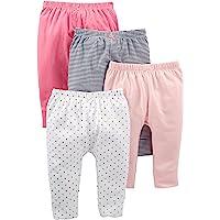 Simple Joys by Carter's Bebé Niñas leggings, Pack de 4