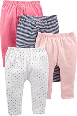 Simple Joys by Carter's Bebé Niñas leggings, Pack de 4