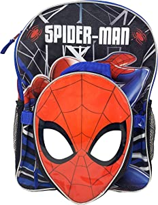 "Spiderman 16"" Backpack with Shaped Lunch Bag- SPOU"