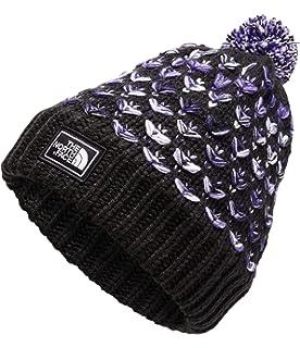 9b28b3c65df Amazon.com  The North Face Triple Cable Fur Pom - Galaxy Purple - OS ...