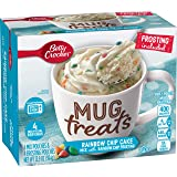 Betty Crocker Mug Treats, Rainbow Chip Cake Mix with Rainbow Chip Frosting, 13.9 oz