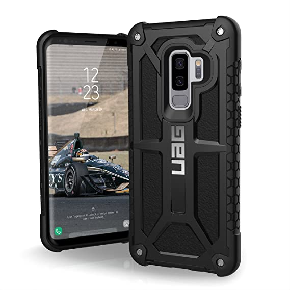 buy popular 16f78 a7fd1 URBAN ARMOR GEAR UAG Designed for Samsung Galaxy S9 Plus [6.2-inch Screen]  Monarch Feather-Light Rugged [Black] Military Drop Tested Phone Case