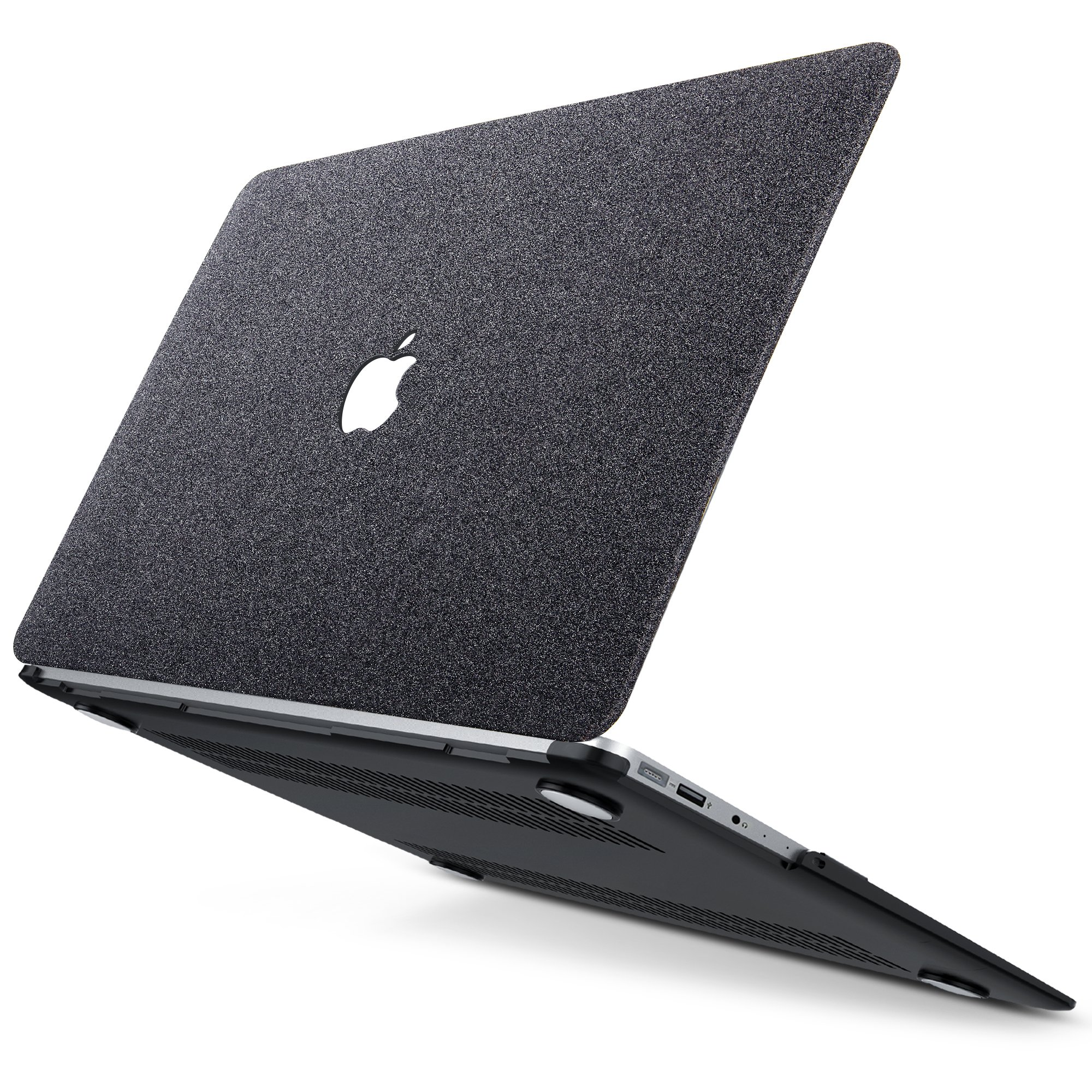 B BELK MacBook Air 13'' Case,2 In 1 Matte Glitter Bling Texture Ultra-Slim Light Weight PC Hard Case With Keyboard Cover For MacBook Air 13.3 Inch(Model:A1369/A1466) - Black