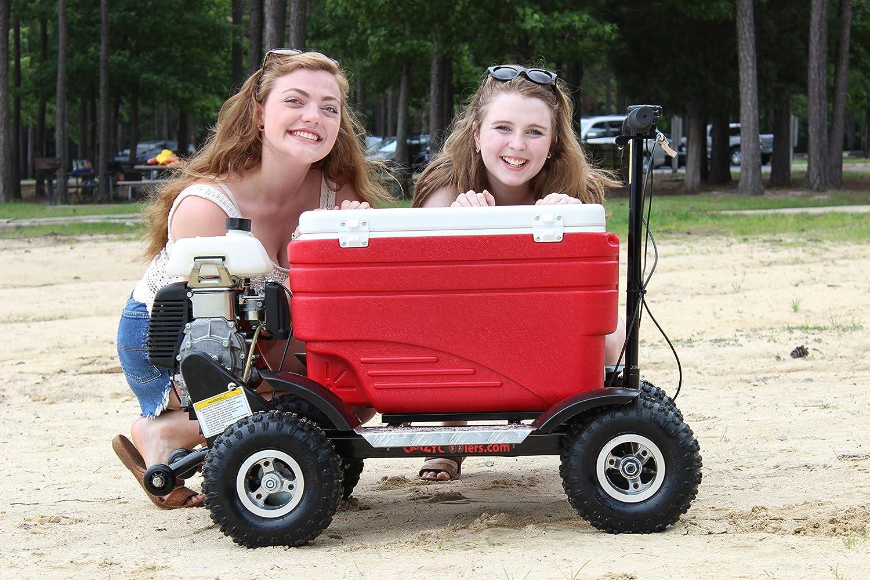 Crazy Coolers RED 4Stroke Motorized All Terrain 49CC Cooler w Wheelie Bar