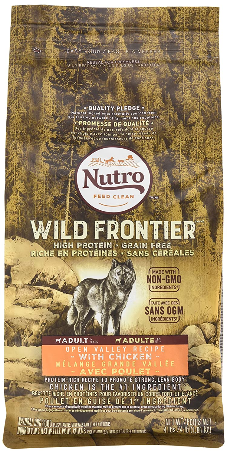 Nutro Wild Frontier Adult Open Valley Recipe Grain Free Chicken Dry Dog Food 4 Pounds Discontinued By Manufacturer