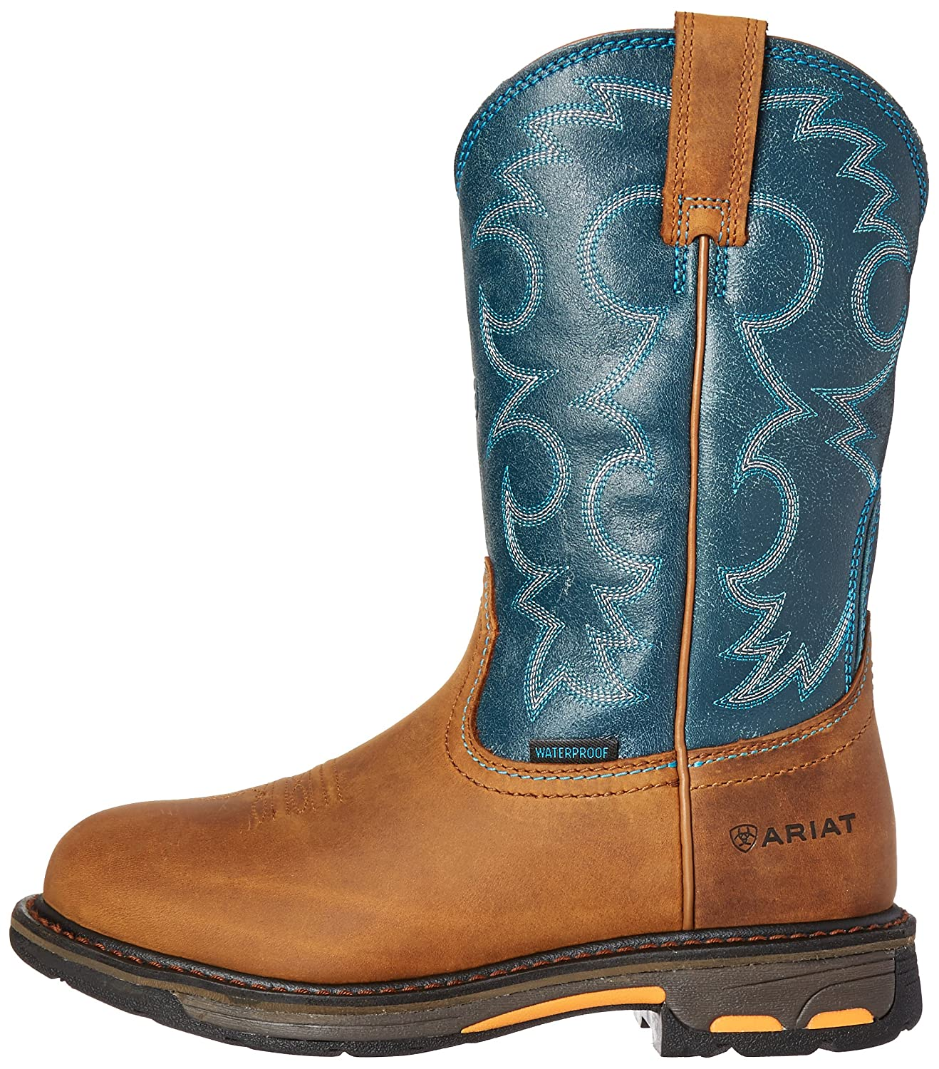 Ariat Women's Workhog H2O Work Boot B01BQT6TEO 11 B(M) US|Aged Bark/Topaz