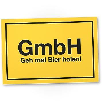 GmBH - geh mal Bier holen, lustige Geschenkidee Geburtstagsgeschenk ...
