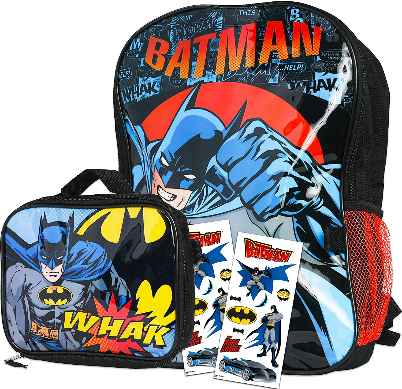 5pc 16 Batman 16in Backpack Set