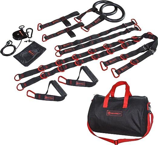 Marcy de entrenamiento en suspensión, colour negro/rojo ...