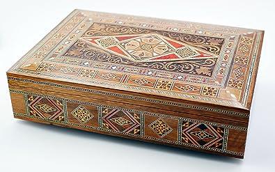 Caja joyero, caja de madera polivalente, mosaico, Sirio, caja de ...