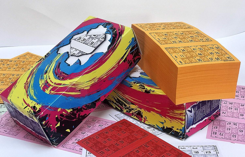 Cartones de bingo. Pack de 900 unidades numeradas del 1 al 900. Los números están troquelados para facilitar la marca sin llegar a desprenderse del ...