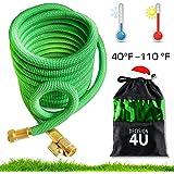 25 FT Expandable Garden Hose |By DECISION4U| ENJOY the most DURABLE Flexible Expanding Hose | 3/4 USA Standard Corrosion-Resistant BRASS Fittings | +BONUS HOSE HOLDER | Heavy Duty Collapsible Hose