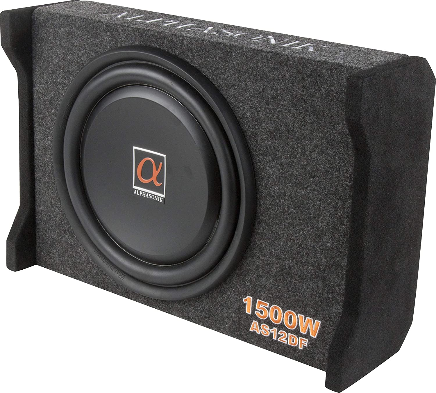 "Alphasonik AS12DF 14.1"" subwoofer for tight spaces"