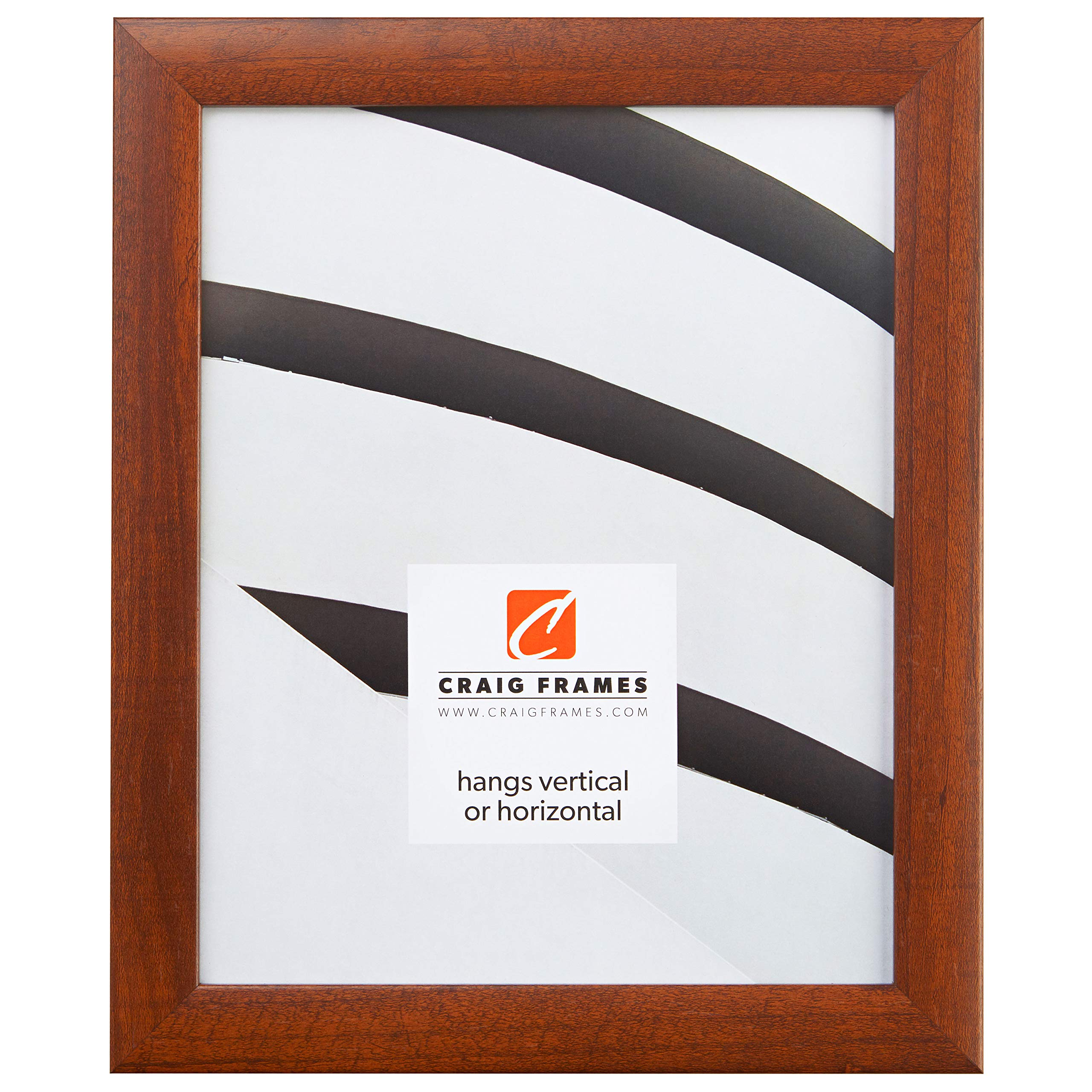 Craig Frames 23247616 20 x 28 Inch Picture Frame, Smooth Wood Grain Finish, 1-Inch Wide, Walnut Brown by Craig Frames