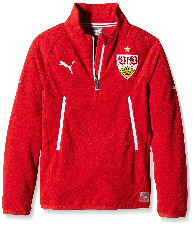 bd92f4a233 Puma para niños-Camiseta VfB Stuttgart de Forro Polar con 1 2 Zip ...